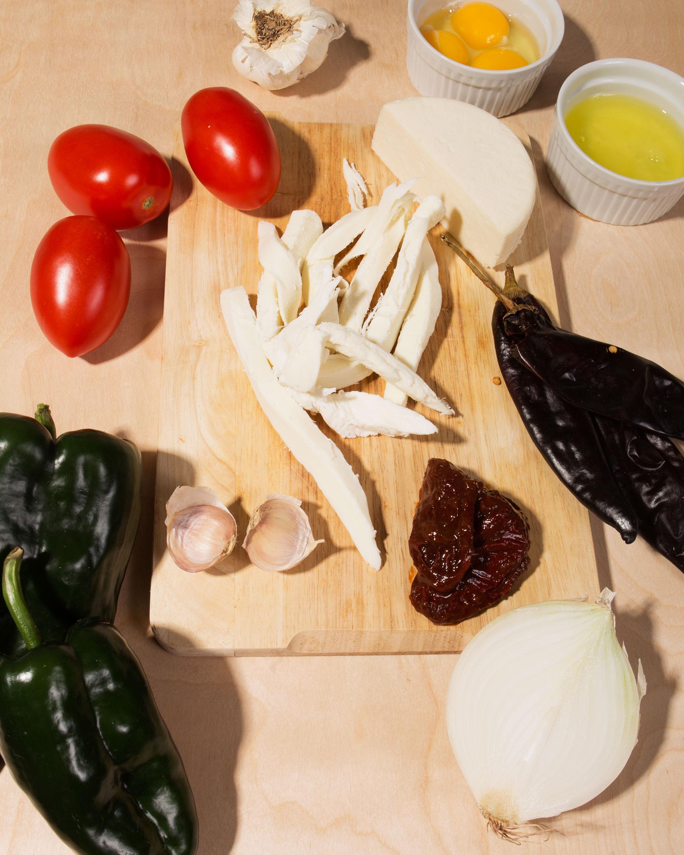 Chiles Rellenos in a Smoky Salsa de Tomate
