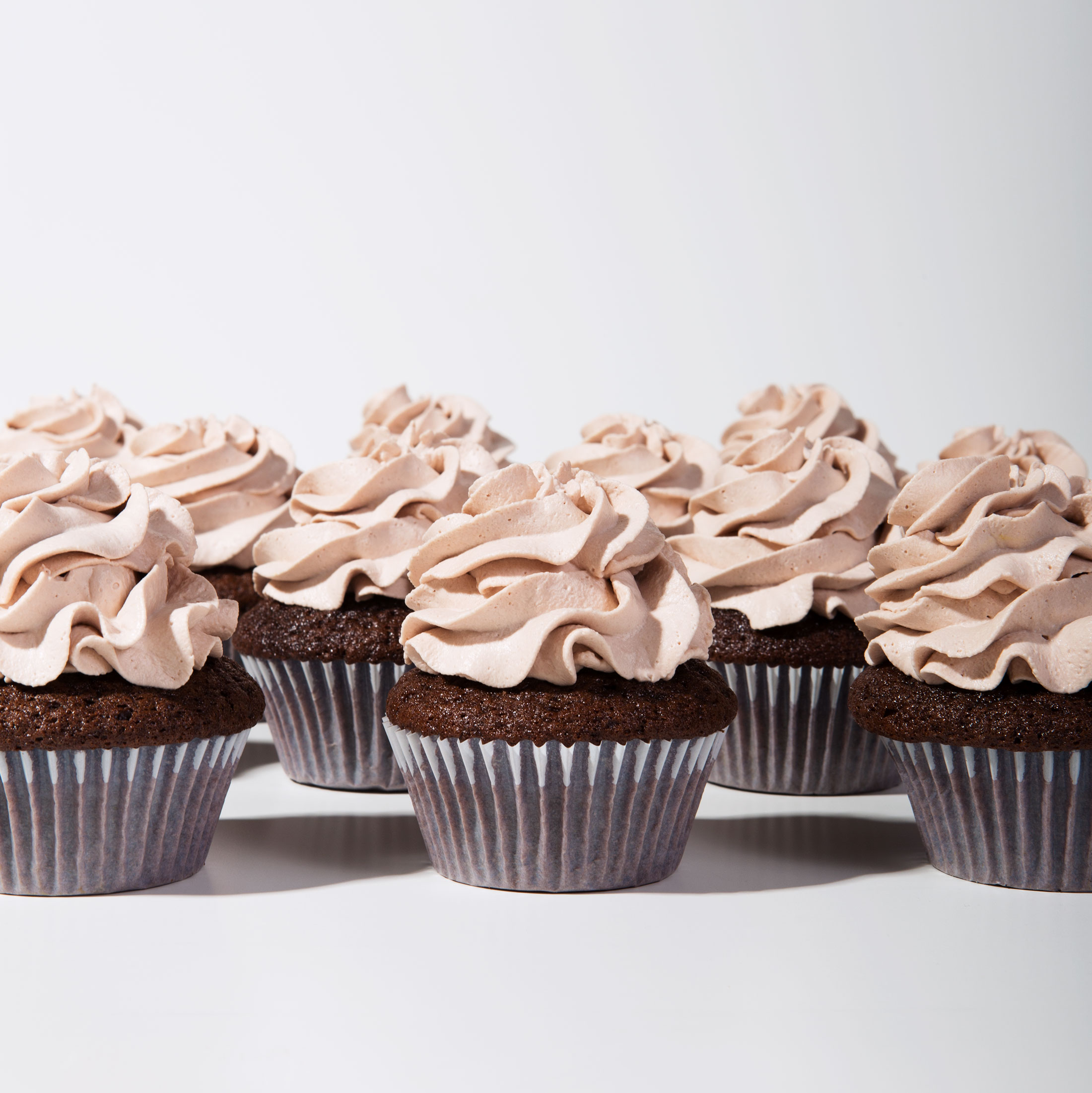 Mexican Chocolate Milk Cupcakes with a Whipped Chocolate Milk Topping